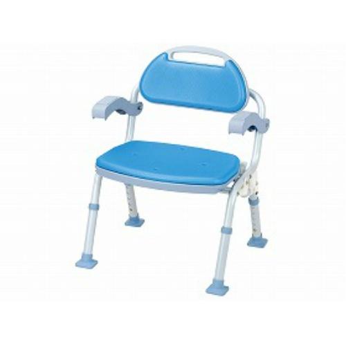 マキテック シャワーベンチ SOFTEK(ソフテック) 背・肘付ブルー