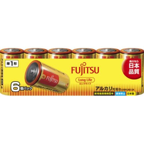 【送料無料・まとめ買い×020】富士通 ロングライフ アルカリ乾電池 単1形 1.5V 6個パック 日本製 LR20FL ×020点セット(4976680276102)
