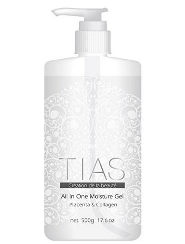 【送料込・まとめ買い×20】TIAS オールインワンゲル 美容液ジェル 大容量 500gボトル×20点セット 生プラセンタ コラーゲン 化粧水 ( オールインワン 基礎化粧品 ) ( 4573205373034)