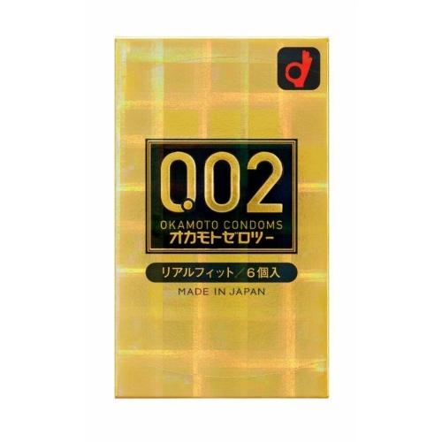 【送料無料・まとめ買い×144】オカモト ゼロツー 0.02ミリ リアルフィット 6個入り ( コンドーム )×144点セット(4547691775948)
