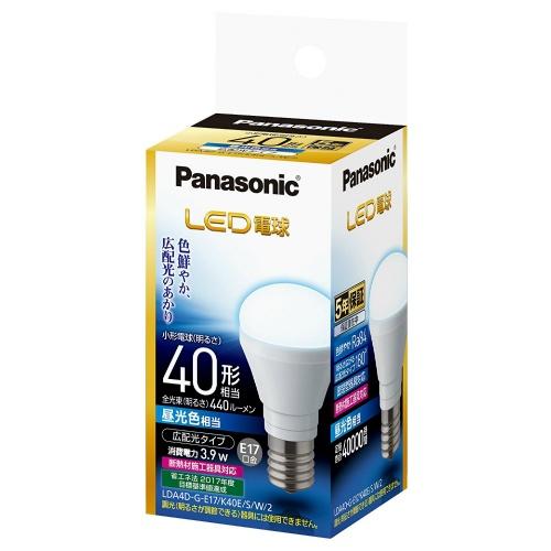 パナソニック 調光器非対応LED電球 (小型電球形・全光束440lm/昼光色相当・口金E17) LDA4D-G-E17/K40E/S/W/2×10個セット