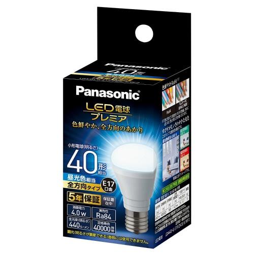 パナソニック 調光器非対応LED電球 「LED電球プレミア」(小形電球形・全光束440lm/昼光色相当・口金E17) LDA4D-G-E17/Z40E/S/W/2×10個セット