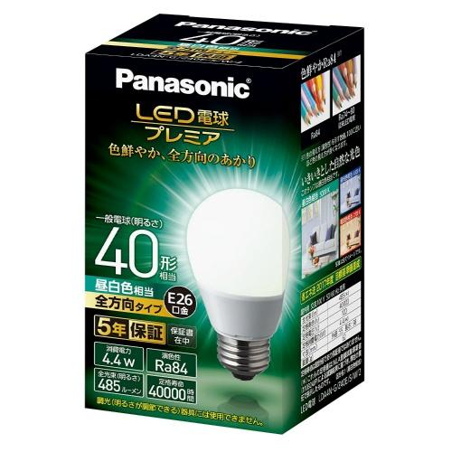 パナソニック 調光器非対応LED電球 「LED電球プレミア」(一般電球形・全光束485lm/昼白色相当・口金E26) LDA4N-G/Z40E/S/W/2×10個セット