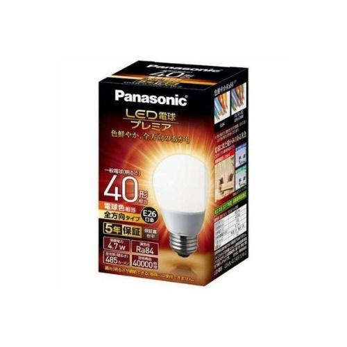パナソニック 調光器非対応LED電球 「LED電球プレミア」(一般電球形・全光束485lm/電球色相当・口金E26) LDA5L-G/Z40E/S/W/2×10個セット