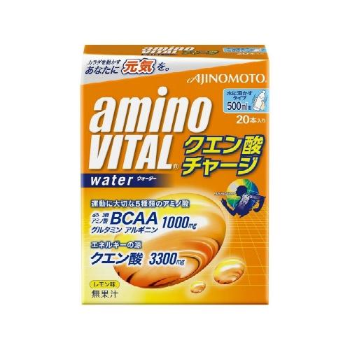 【まとめ買い×5】味の素 アミノバイタル クエン酸 チャージウォーター 20本入