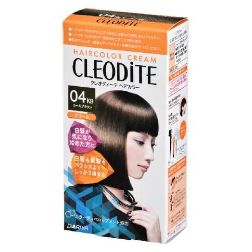 【送料無料・まとめ買い×030】ダリヤ クレオディーテ ヘアカラークリーム 白髪が気になり始めた方用 04KB カーキブラウン×030点セット(4904651183333)