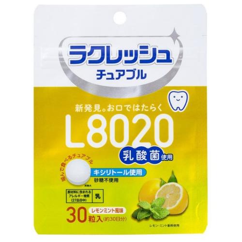 【送料無料・まとめ買い×60】ジェクス L8020 乳酸菌 ラクレッシュチュアブル レモンミント風味 30粒入×60点セット(4973210994802)