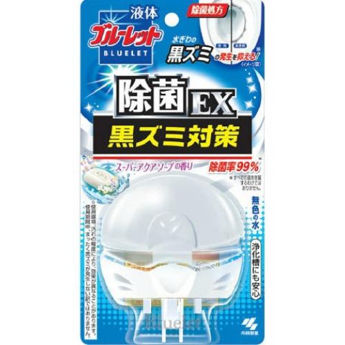 【送料無料・まとめ買い×048】小林製薬 液体ブルーレットおくだけ除菌EX トイレタンク 芳香洗浄剤 本体 スーパーアクアソープの香り 70ml×048点セット(4987072049082)