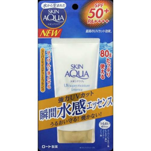 【60個で送料無料】ロート製薬 SKIN AQUA ( スキンアクア )  スーパーモイスチャーエッセンス ( 内容量:80G ) ×60点セット ( 4987241145478 )