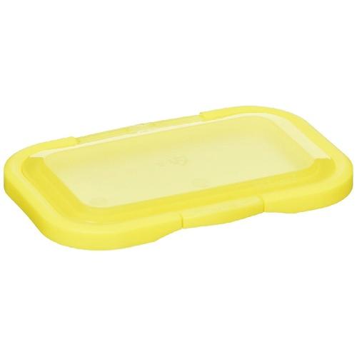 【・まとめ買い×240】テクセルジャパン ビタット おしりふきに貼るフタ 指一本で開閉 ワンプッシュ式 クリアイエロー×240点セット(4562384601311)
