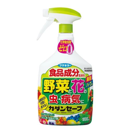 食品原料生まれの殺虫・殺菌剤。/4902424441987/ フマキラー カダンセーフ 野菜と花の虫・病気に 1000ml