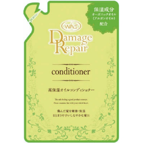 痛んだ髪を補修保湿まとまりやすいしなやかな髪に 4904112828414 ウインズ 訳あり品送料無料 ダメージリペア 370ml 詰替 コンディショナー 交換無料