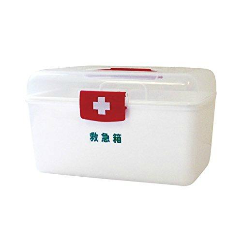 【送料無料・まとめ買い×10】日進医療器 リーダー ポリ救急箱 Mサイズ
