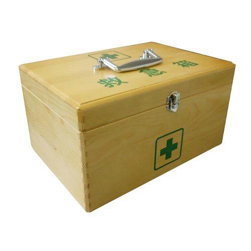 【送料無料・まとめ買い×10】日進医療器 リーダー 木製救急箱 Sサイズ