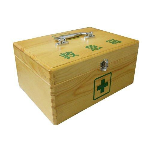 【まとめ買い×5】日進医療器 リーダー 木製救急箱 Mサイズ