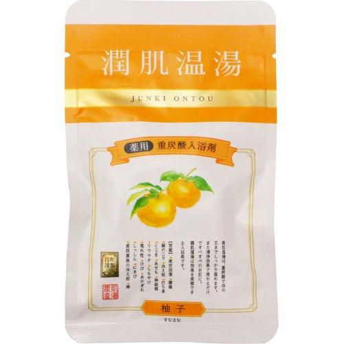 紀陽除虫菊 薬用 重炭酸入浴剤 潤肌温湯 ゆず 1錠×144個セット