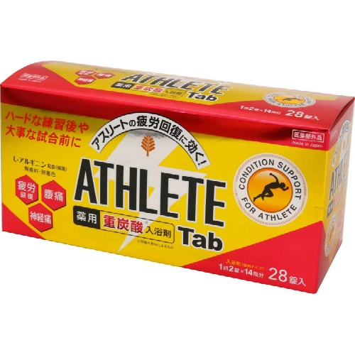 紀陽除虫菊 薬用重炭酸入浴剤 ATHLETE Tab 28錠入×12個セット