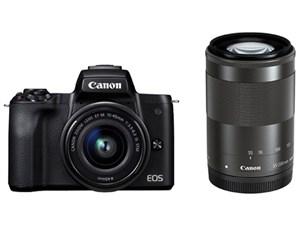 EOS Kiss M ダブルズームキット [ブラック] CANON デジタル一眼カメラ【送料無料】【新品】