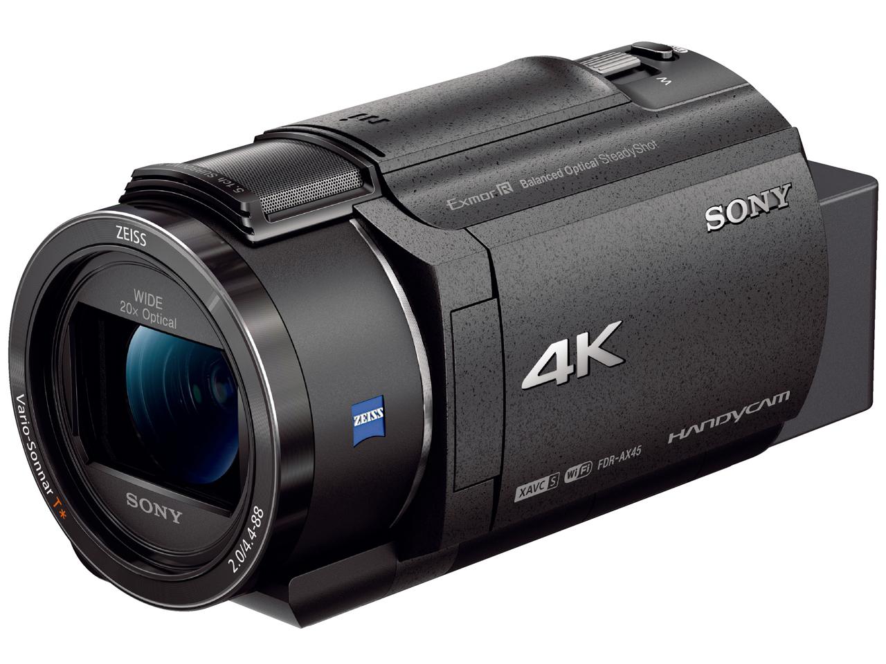 決済確認平日15時/土曜13時まで即日出荷(一部地域除く) FDR-AX45 B SONY ビデオカメラ 4K【送料無料】【新品】