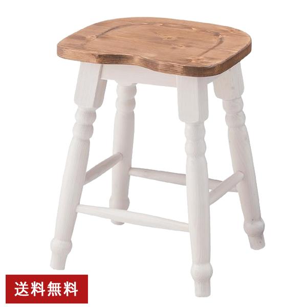 [ 送料無料 ] 【完成品】スツール 背もたれなし 椅子 イス いす チェア 1人 単身 おしゃれ 単品 天然木 カントリー ダイニング