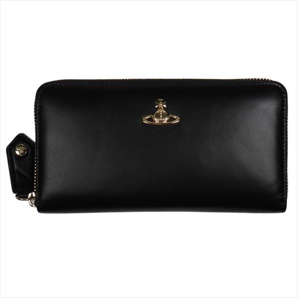Vivienne Westwood ヴィヴィアン・ウェストウッド 財布サイフ NO,10 NAPPA ラウンドファスナー長財布 51050023 BLACK 18SS ブラック