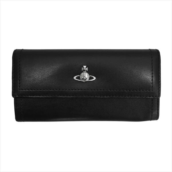 Vivienne Westwood ヴィヴィアン・ウェストウッド 財布サイフ NO,10 CAMBRIDGE 二つ折り長財布 51060022 BLACK 18SS ブラック