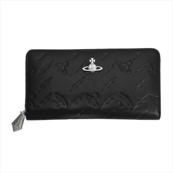 Vivienne Westwood ヴィヴィアン・ウェストウッド 財布サイフ NO,10 CANTERBURY ラウンドファスナー長財布 51050023 BLACK 18SS ブラック