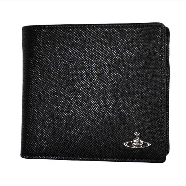 Vivienne Westwood ヴィヴィアン・ウェストウッド 財布サイフ NO,10 KENT 二つ折り財布 51010016 BLACK 18SS ブラック