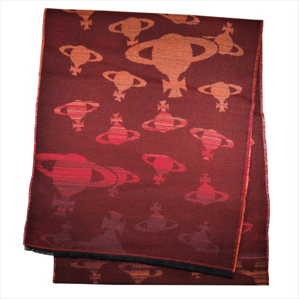 Vivienne Westwood ヴィヴィアン・ウェストウッド マフラー オーヴ柄 ボルドー 81030038-10645-GE-I201 BORDEAUX