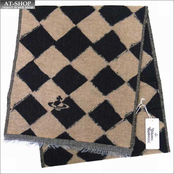 Vivienne Westwood ヴィヴィアン・ウェストウッド マフラー チェック柄 81030011-10069-PL-N206 BLACK/BEIGE
