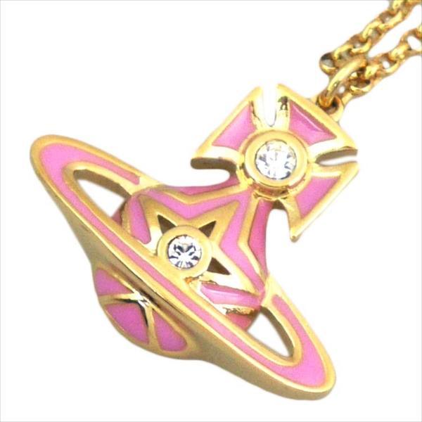 Vivienne Westwood ヴィヴィアン・ウエストウッド ネックレス ブリS 752183B/2 ピンク×ゴールド
