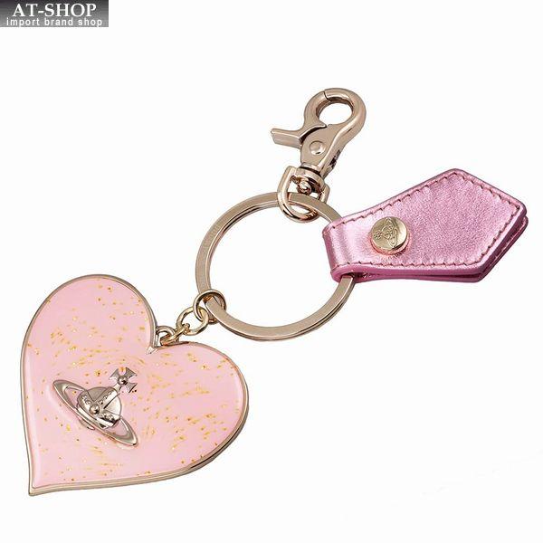 Vivienne Westwood ヴィヴィアン・ウェストウッド キーリング ピンク×ゴールド MIRROR HEART GADGET 82030008 PINK