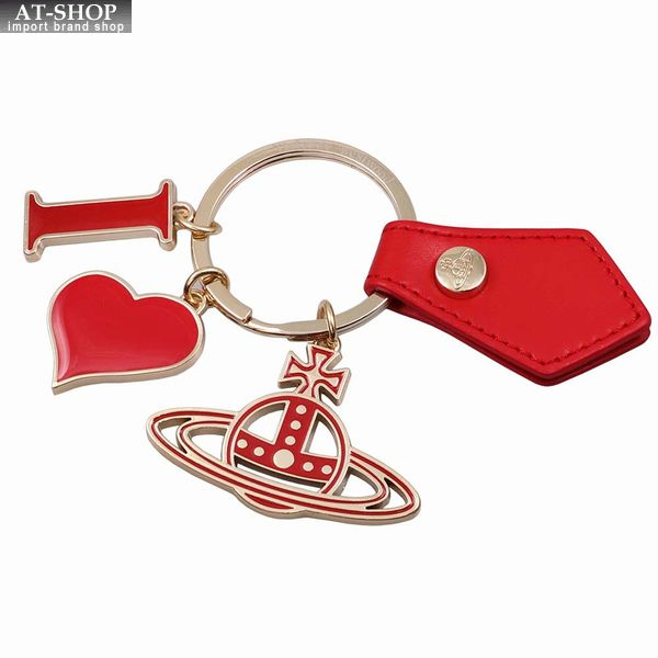 Vivienne Westwood ヴィヴィアン・ウェストウッド キーリング レッド×ゴールド I LOVE ORB GADGET 82030009 RED