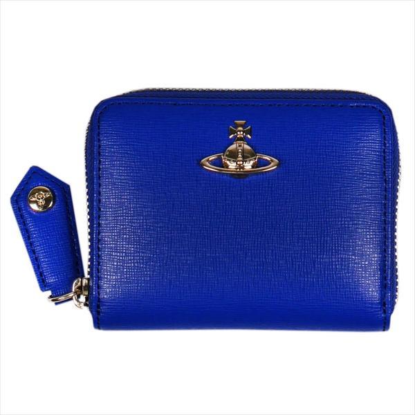 Vivienne Westwood ヴィヴィアン・ウェストウッド 財布サイフ NO,10 SAFFIANO 小銭入れ ラウンドファスナー財布 51080001 BLUE 18SS ブルー