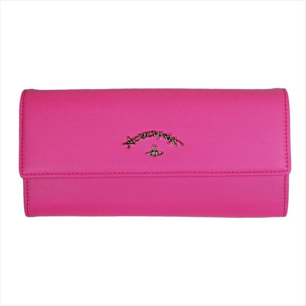 Vivienne Westwood ヴィヴィアン・ウェストウッド 財布サイフ NO,10 SONIA 二つ折り長財布 51060017 PINK 18SS ピンク