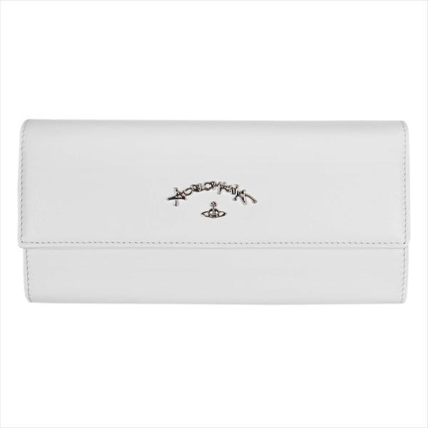 Vivienne Westwood ヴィヴィアン・ウェストウッド 財布サイフ NO,10 SONIA 二つ折り長財布 51060017 WHITE 18SS ホワイト