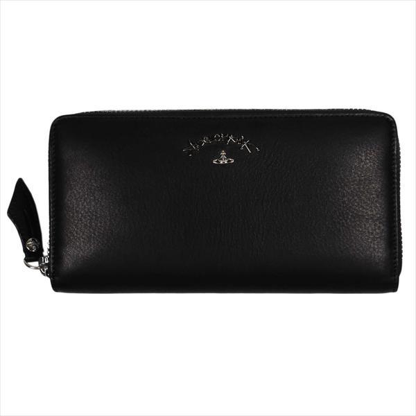 Vivienne Westwood ヴィヴィアン・ウェストウッド 財布サイフ NO,10 SONIA ラウンドファスナー長財布 51050024 BLACK 18SS ブラック