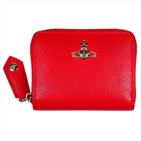 Vivienne Westwood ヴィヴィアン・ウェストウッド 財布サイフ NO,10 SAFFIANO 小銭入れ ラウンドファスナー財布 51080001 RED 18SS レッド