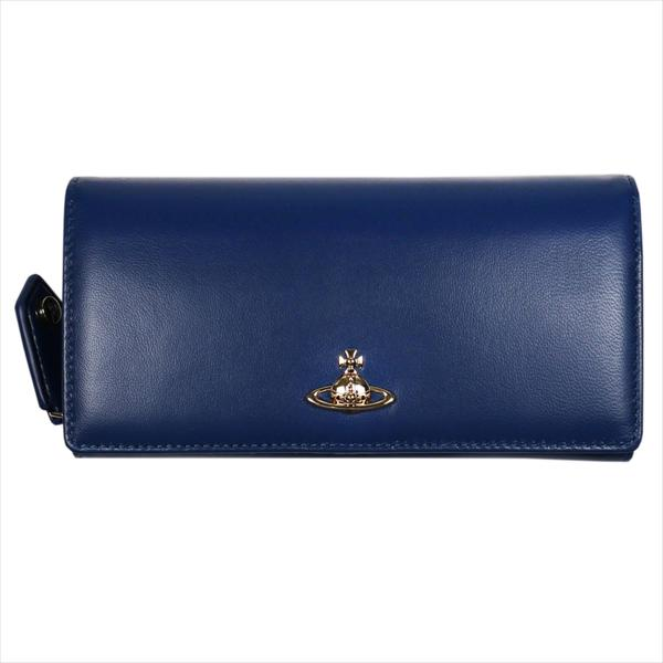 Vivienne Westwood ヴィヴィアン・ウェストウッド 財布サイフ NO,10 NAPPA 二つ折り長財布 51060025 BLUE 18SS ブルー