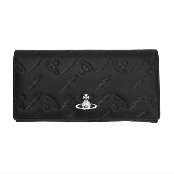 Vivienne Westwood ヴィヴィアン・ウェストウッド 財布サイフ NO,10 CANTERBURY 二つ折り長財布 51060025 BLACK 18SS ブラック