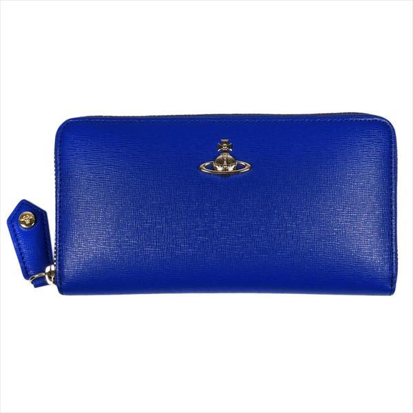 Vivienne Westwood ヴィヴィアン・ウェストウッド 財布サイフ NO,10 SAFFIANO ラウンドファスナー長財布 51050023 BLUE 18SS ブルー