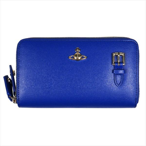 Vivienne Westwood ヴィヴィアン・ウェストウッド 財布サイフ NO,10 SAFFIANO 財布ポシェット ショルダーウォレット 51050026 BLUE 18SS ブルー