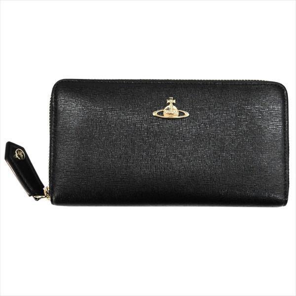 【あす楽】Vivienne Westwood ヴィヴィアン・ウェストウッド 財布サイフ NO,9 SAFFIANO ラウンドファスナー長財布 51050001-40153 BLACK 17AW ブラック
