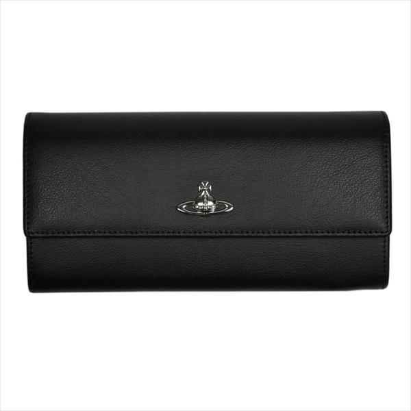Vivienne Westwood ヴィヴィアン・ウェストウッド 財布サイフ NO,9 CAMBRIDGE 二つ折り長財布 321547 BLACK 17AW ブラック