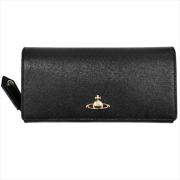 Vivienne Westwood ヴィヴィアン・ウェストウッド 財布サイフ NO,9 SAFFIANO 二つ折り長財布 51080001-40153 BLACK 17AW ブラック