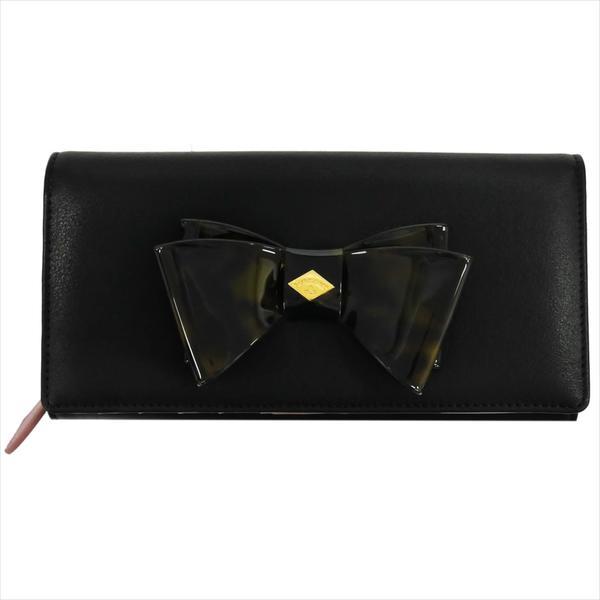 Vivienne Westwood ヴィヴィアン・ウェストウッド 財布サイフ NO,8 SOMERSET 二つ折り長財布 1032V30V BLACK 17SS ブラック