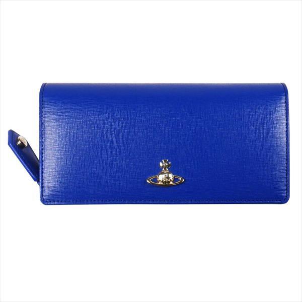 Vivienne Westwood ヴィヴィアン・ウェストウッド 財布サイフ NO,10 SAFFIANO 二つ折り長財布 51060025 BLUE 18SS ブルー