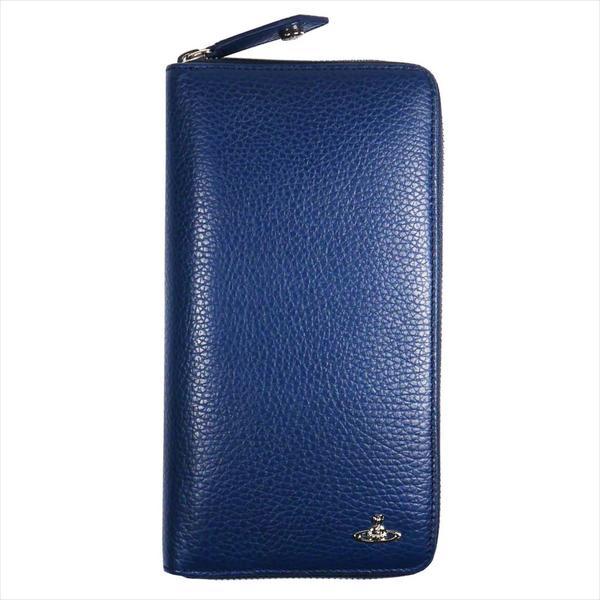 Vivienne Westwood ヴィヴィアン・ウェストウッド 財布サイフ NO,10 MILANO ラウンドファスナー長財布 51080021 BLUE 18SS ブルー