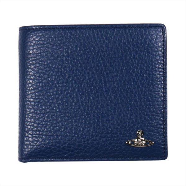 Vivienne Westwood ヴィヴィアン・ウェストウッド 財布サイフ NO,10 MILANO 二つ折り財布 51010016 BLUE 18SS ブルー