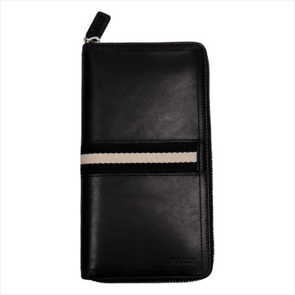 BALLY バリー 財布サイフ ラウンドファスナー長財布 TALEN 290 BLACK 6206815 ブラック